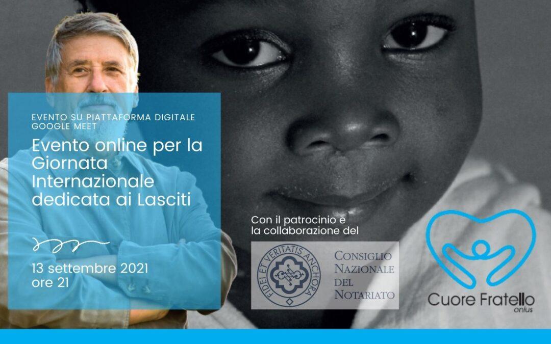 13 settembre: evento online per la Giornata Internazionale dedicata ai Lasciti